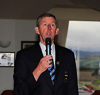 Jim Long (Chairman Munster Golf GUI) speaking during the award presentation during the Munster Final of the AIG Junior Cup at Tralee Golf Club, Tralee, Co Kerry. 13/08/2017<br /> Picture: Golffile | Thos Caffrey<br /> <br /> <br /> All photo usage must carry mandatory copyright credit     (&copy; Golffile | Thos Caffrey)