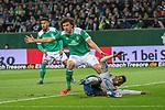 08.03.2019, Weser Stadion, Bremen, GER, 1.FBL, Werder Bremen vs FC Schalke 04, <br /> <br /> DFL REGULATIONS PROHIBIT ANY USE OF PHOTOGRAPHS AS IMAGE SEQUENCES AND/OR QUASI-VIDEO.<br /> <br />  im Bild<br /> <br /> <br /> Milos Veljkovic (Werder Bremen #13)<br /> Breel Embolo (FC Schalke 04 #36)<br /> Foto &copy; nordphoto / Kokenge