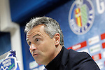 Getafe's coach Fran Escriba in press conference after La Liga match. February 27,2016. (ALTERPHOTOS/Acero)