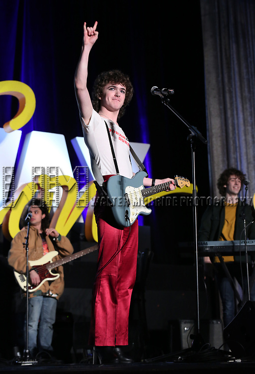 """Brenock O'Connor from """"Sing Street - A Musical"""" during the BroadwayCON 2020 First Look at the New York Hilton Midtown Hotel on January 24, 2020 in New York City."""