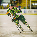 24 November 2013: University of Vermont Catamount Forward Connor Brickley, a Senior from Everett, MA, in second period action against the University of Massachusetts Minutemen at Gutterson Fieldhouse in Burlington, Vermont. The Cats wore special camouflage jerseys to celebrate Military Appreciation Day. The game-worn jerseys were auctioned off with proceeds benefiting the Vermont Veterans Fund (VVF). The Catamounts shut out the Minutemen 2-0 to sweep the 2-game home-and-away weekend Hockey East Series. Mandatory Credit: Ed Wolfstein Photo *** RAW (NEF) Image File Available ***