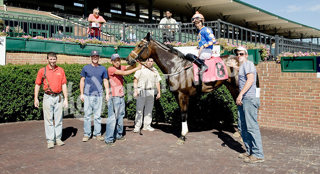 Inspeightofthegold winning at Delaware Park on 10/1/12