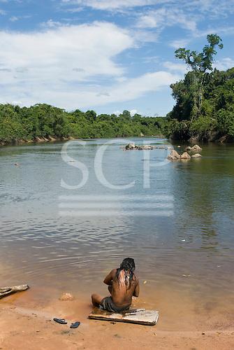 Pará State, Brazil. Aldeia A-Ukre (Kayapó). Port on the Riozinho.