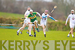 Darragh O'Connell Kerry in action against  Kildare in the National Hurling League at Abbeydorney on Sunday.