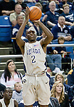 March 3, 2012:   Nevada Wolf Packs Jerry Evans Jr. shoots a 3-pointer against the Louisiana Tech Bulldogs during their NCAA basketball game played at Lawlor Events Center on Saturday night in Reno, Nevada.