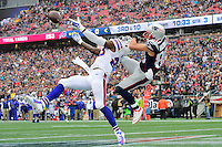 Sunday, October 2, 2016: Buffalo Bills strong safety Aaron Williams (23) breaks up a pass to New England Patriots wide receiver Danny Amendola (80) during the NFL game between the Buffalo Bills and the New England Patriots held at Gillette Stadium in Foxborough Massachusetts. Buffalo defeats New England 16-0. Eric Canha/Cal Sport Media