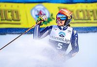 30.11.2019, Killington, USA, FIS Weltcup Ski Alpin, Riesenslalom, Damen, 2. Lauf, im Bild Federica Brignone ITA, 2. Platz // second placed Federica Brignone of Italy reacts after her 2nd run of ladie s Giant Slalom of FIS ski alpine world cup in Killington, United States on 2019/11/30. Killington *** 30 11 2019, Killington, USA, FIS World Cup Alpine Skiing, Giant Slalom, Women, 2 run, pictured Federica Brignone ITA, 2 place second placed Federica Brignone of Italy reacts after her 2nd run of ladie s Giant Slalom of FIS alpine ski world cup in Killington, United States on 2019 11 30 Killington PUBLICATIONxNOTxINxAUT EPgro<br /> Sci Alpino Donne 2019 <br /> Photo Imago / Insidefoto <br /> ITALY ONLY