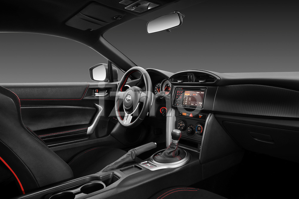 Passenger side dashboard view of a 2013 Scion FRS