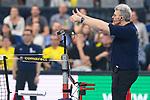 24.02.2019, SAP Arena, Mannheim<br /> Volleyball, DVV-Pokal Finale, VfB Friedrichshafen vs. SVG LŸneburg / Lueneburg<br /> <br /> Schiedsrichter, Schiri Munir Fattah<br /> <br />   Foto © nordphoto / Kurth