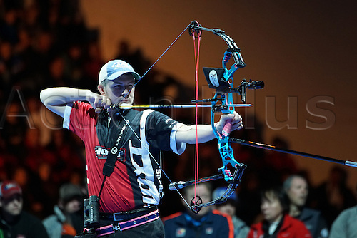 17.01.2016. Nimes, France. The Arc club Nimes Indoor World Championships of Archery.  Broadwater Jesse (USA)