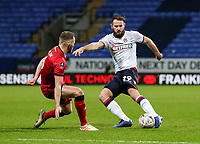 Bolton Wanderers' Jonathan Grounds competing with Walsall's Nicky Devlin<br /> <br /> Photographer Andrew Kearns/CameraSport<br /> <br /> Emirates FA Cup Third Round - Bolton Wanderers v Walsall - Saturday 5th January 2019 - University of Bolton Stadium - Bolton<br />  <br /> World Copyright &copy; 2019 CameraSport. All rights reserved. 43 Linden Ave. Countesthorpe. Leicester. England. LE8 5PG - Tel: +44 (0) 116 277 4147 - admin@camerasport.com - www.camerasport.com