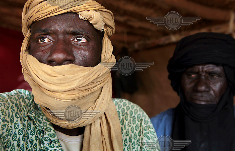 35 year old Abdul Karim, a primary school head teacher in Tabarbar refugee camp after fleeing fighting near his home in neighbouring Mali.