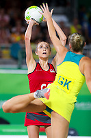 Picture by Alex Whitehead/SWpix.com - 15/04/2018 - Commonwealth Games - Netball - Coomera Indoor Sports Centre, Gold Coast, Australia - England's Helen Housby in action during the Gold medal final vs Australia.