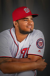 22 February 2019: Washington Nationals catcher Raudy Read poses for his Photo Day portrait at the Ballpark of the Palm Beaches in West Palm Beach, Florida. Mandatory Credit: Ed Wolfstein Photo *** RAW (NEF) Image File Available ***