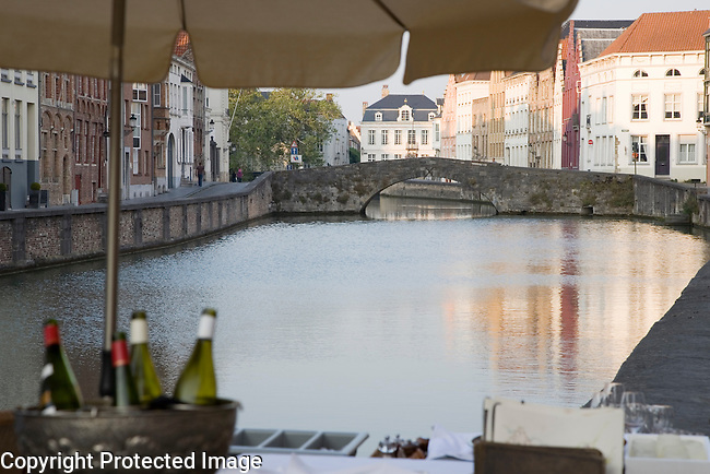 Canals of Bruges; Belgium; Europe