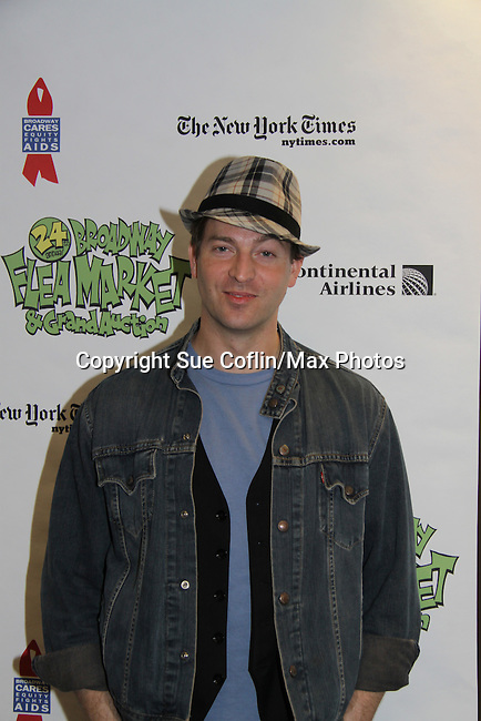 Levi Kreis (Young and The Restless and Days of Our Lives) at The 24th Annual Broadway Flea Market & Grand Auction to benefit Broadway Cares/Equity Fight Aids on September 26, 2010 in Shubert Alley, New York City, New York. (Photo by Sue Coflin/Max Photos)