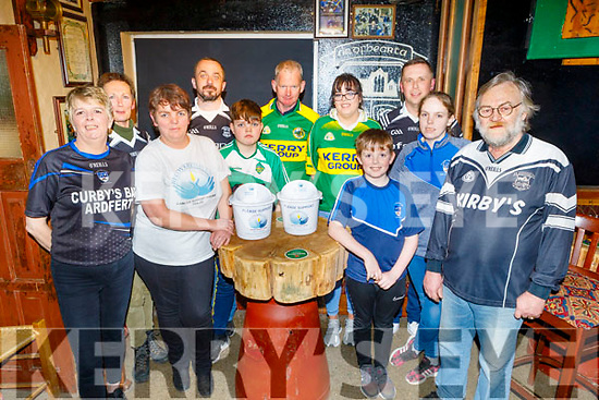 Olivia Murphy and friends launch their Jersey Day fundraiser in Kirby's Bar Ardfert on Monday night for Recovery Haven.<br /> The Jersey Day will be held there on this Sat and Olivia will do her parachute jump on the 29th February.    <br />  L to r: Olivia Murphy, Brenda O'Connor. Grainne Kavanagh, Marcus O'Sullivan, Sean O'Connor, Flor Flahive, Katie Foley, David O'Connor, Gavin West, Nicole O'Connor and Eamon Kirby.
