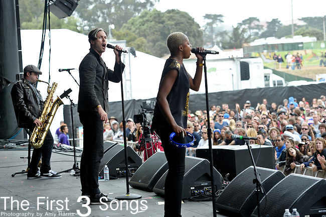 Fitz and The Tantrums performs at the Outside Lands Music & Art Festival at Golden Gate Park in San Francisco, California.