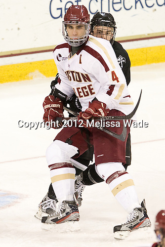 Tommy Cross (BC - 4), ? - The Boston College Eagles defeated the Providence College Friars 7-0 on Saturday, February 25, 2012, at Kelley Rink at Conte Forum in Chestnut Hill, Massachusetts.