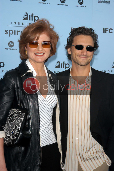 Arianna Huffington and Lawrence Bender