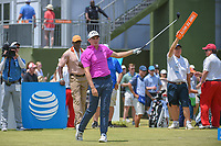 Andrew Wise (USA) watches his tee shot on 10 during round 3 of the AT&amp;T Byron Nelson, Trinity Forest Golf Club, at Dallas, Texas, USA. 5/19/2018.<br /> Picture: Golffile | Ken Murray<br /> <br /> <br /> All photo usage must carry mandatory copyright credit (&copy; Golffile | Ken Murray)