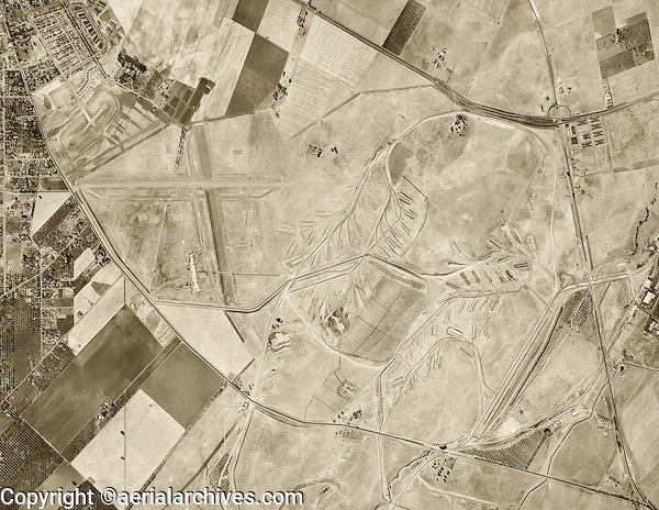 historical aerial photograph Concord California 1946