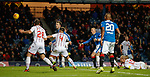 Danny Wilson heads in the rebound to score for Rangers