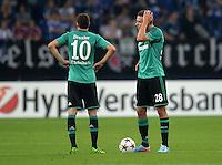FUSSBALL   CHAMPIONS LEAGUE   SAISON 2013/2014   PLAY-OFF FC Schalke 04 - Paok Saloniki        21.08.2013 Lewis Holtby (li) und Adam Szalai (FC Schalke 04) sind nach dem 1:1 enttaeuscht