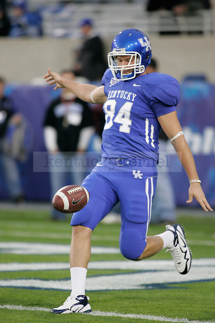 UK tight end Gabe Correll warms up before the game against Mississippi State at Commonwealth Stadium on Saturday, Oct. 31, 2009. Photo by Adam Wolffbrandt | Staff