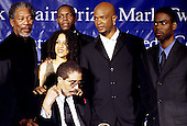 1998 Mark Twain Comedy Prize honoree Richard Pryor poses with (left to right) Morgan Freeman, Danny Glover, Damon Wayans, and Chris Rock at the John F. Kennedy for the Performing Arts in Washington, D.C. on October 20, 1998..Credit: James Kelly / Pool via CNP