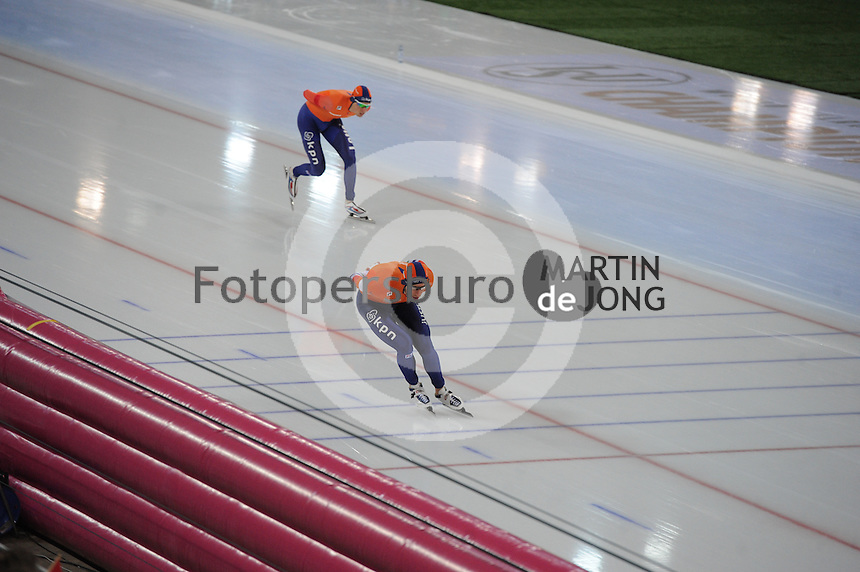 SPEED SKATING: HAMAR: Vikingskipet, 04-03-2017, ISU World Championship Allround, 5000m Men, Patrick Roest (NED), Jan Blokhuijsen (NED), ©photo Martin de Jong