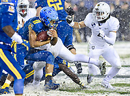 PHILADELPHIA, PA - DEC 9, 2017: Navy Midshipmen Quarterback back Malcolm Perry (10) runs the football during game between Army and Navy at Lincoln Financial Field Philadelphia, PA. Army defeated Navy 14-13 to win the Commander in Chief Cup. (Photo by Phil Peters/Media Images International)