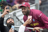 Andre Russell of the West Indies poses for the fans during South Africa vs West Indies, ICC World Cup Warm-Up Match Cricket at the Bristol County Ground on 26th May 2019