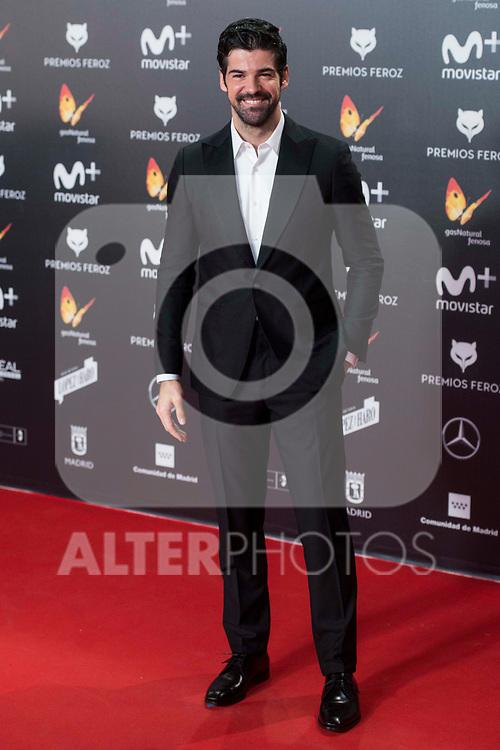 Miguel Angel Munoz attends red carpet of Feroz Awards 2018 at Magarinos Complex in Madrid, Spain. January 22, 2018. (ALTERPHOTOS/Borja B.Hojas)