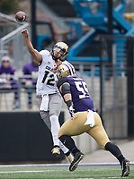 Colorado quarterback Steven Montez lets fly in the first half.