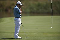 Frustration for Thomas Aiken (RSA) as his putt hits the pin and lips out during Round Two of The Tshwane Open 2014 at the Els (Copperleaf) Golf Club, City of Tshwane, Pretoria, South Africa. Picture:  David Lloyd / www.golffile.ie