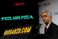 U.S. Soccer President and USA Bid Committee Chairman Sunil Gulati announces Philadelphia as one of the 18 cities to be submitted to FIFA as part of the bid to host the 2018 or 2022 FIFA World Cup at the ESPN Zone in Times Square, NYC, NY, on January 12, 2010.