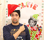Lin-Manuel Miranda during the cast of 'Hamilton' 2016 Door Decorating Competition at Richard Rodgers Theatre on December 23, 2016 in New York City.