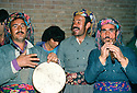 Iran 1979.Musicians in a wedding in Mahabad