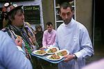 Goathland Plough Stots, Goathland Yorkshire UK Sword dance Play 1980s. Pie and Mash, mushy peas.