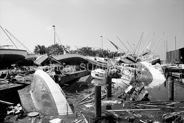 New Orleans, Louisiana.USA.September 28, 2005 ..Hurricane Katrina damage and recovery. The main port.