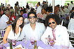 Sarah Guice, Omeed Malik and Kyle Donovan Attend The Fourth Annual Reginald F. Lewis Foundation Gala Luncheon Held at The Reginald F. Lewis Estate, East Hampton New York,  6/25/11