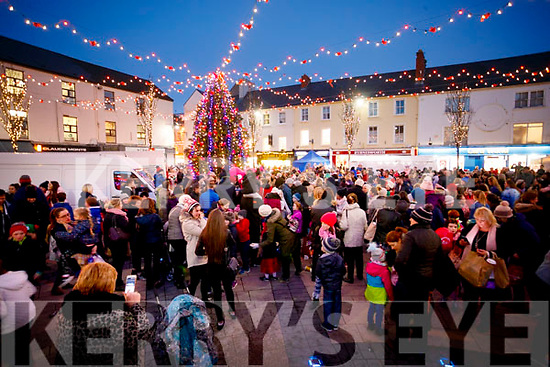 Christmas lights in Tralee on Saturday.