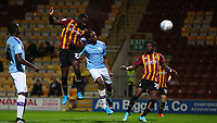 Hope Akpan of Bradford City scores to make it 1-0 during the The Leasing.com Trophy match between Bradford City and Manchester City U21 at the Utilita Energy Stadium, Bradford, England on 24 September 2019. Photo by Thomas Gadd.