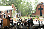 Thursday, May 31, Charlotte, North Carolina. Dedication ceremony for the new Billy Graham Library in Charlotte, North Carolina.. Franklin Graham spoke of his father's desire to have the library be about faith, not himself.. Behind him (l to r) Graeme Keith, an aide to Billy Graham, Cliff Barrows, Billy Graham, George Bush, Jimmy Carter and Bill Clinton.