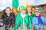 St Patrrick with his disciples Eilís Mullane, Jack Leader, Tadhg Quinn, Danniele O'Shea and Ciara Faulds Raheeen NS School at the Killarney St Patricks Day parade on Sunday.St Patrrick with his disciples Eilís Mullane, Jack Leader, Tadhg Quinn, Danniele O'Shea and Ciara Faulds Raheeen NS School at the Killarney St Patricks Day parade on Sunday.