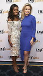 Miss America Nia Franklin and Miss California MacKenzie Freed attends the cocktail party for the Dramatists Guild Foundation 2018 dgf: gala at the Manhattan Center Ballroom on November 12, 2018 in New York City.