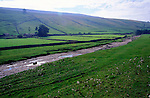 Dried river Skirfare, Littondale, near Litton, North Yorkshire, England