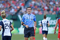 Portland, OR - Saturday July 22, 2017: Michael Radchuk during a regular season National Women's Soccer League (NWSL) match between the Portland Thorns FC and the Washington Spirit at Providence Park.