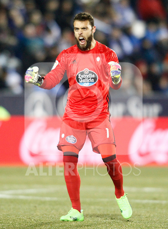 Celta de Vigo's Sergio Alvarez celebrates goal during La Liga match. January 28,2017. (ALTERPHOTOS/Acero)